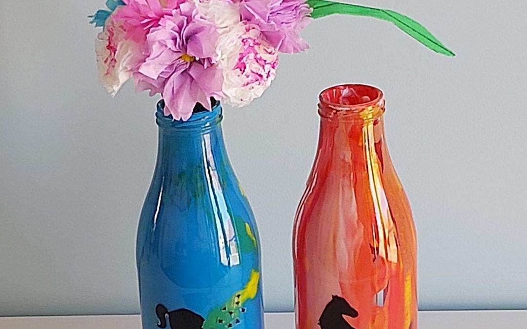 Vaas met lenteboeket